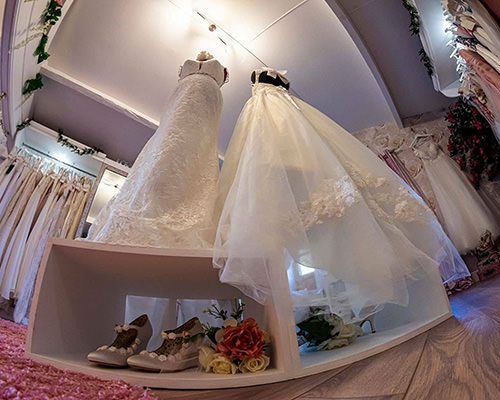tiny planet view of bridal treasures premises on the isle of wight